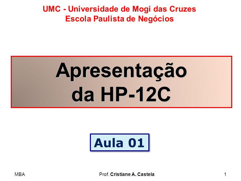 Apresentação da HP-12C Aula 01