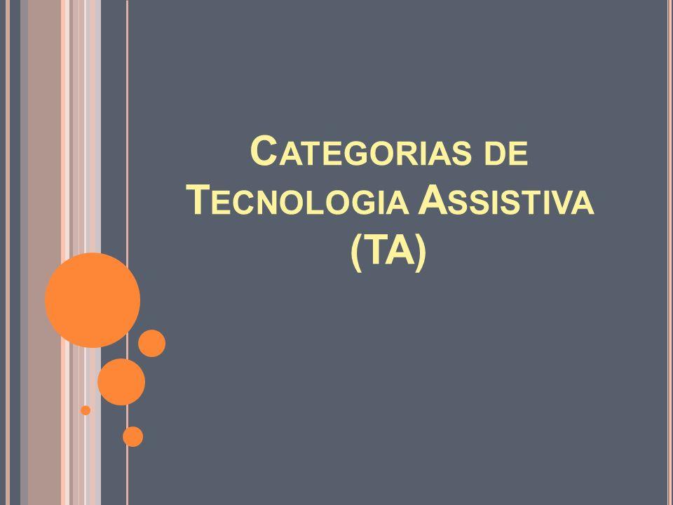 Categorias de Tecnologia Assistiva (TA)