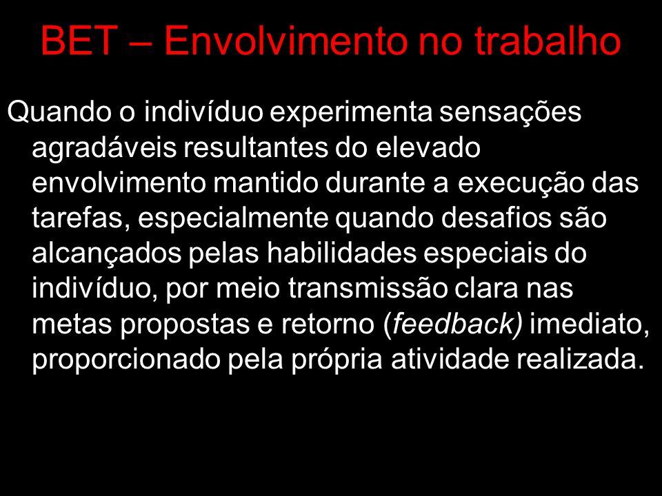 BET – Envolvimento no trabalho