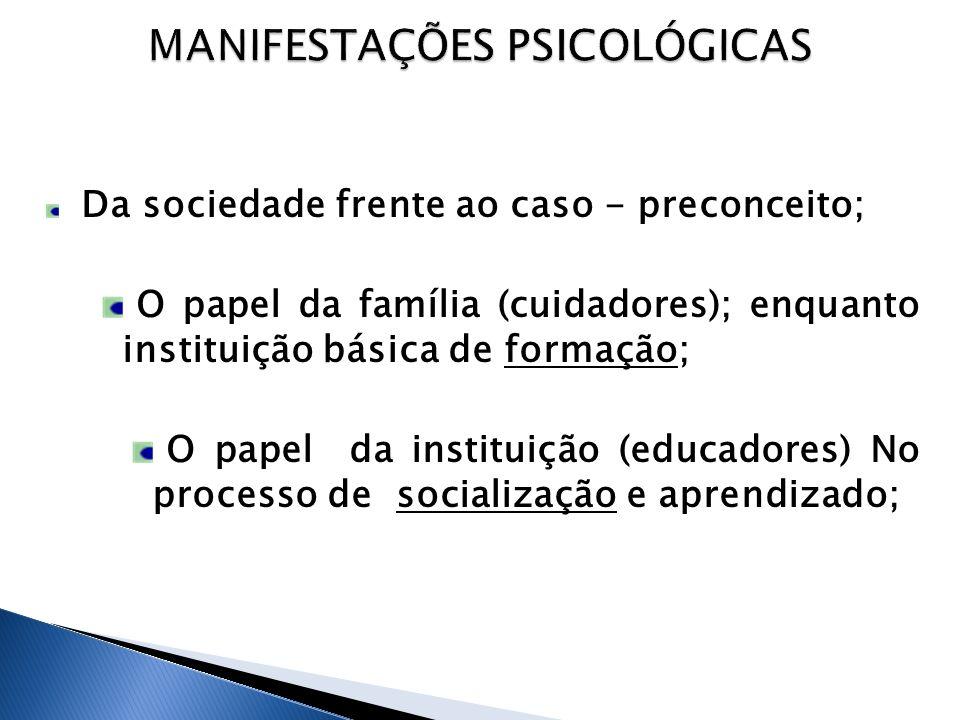 MANIFESTAÇÕES PSICOLÓGICAS