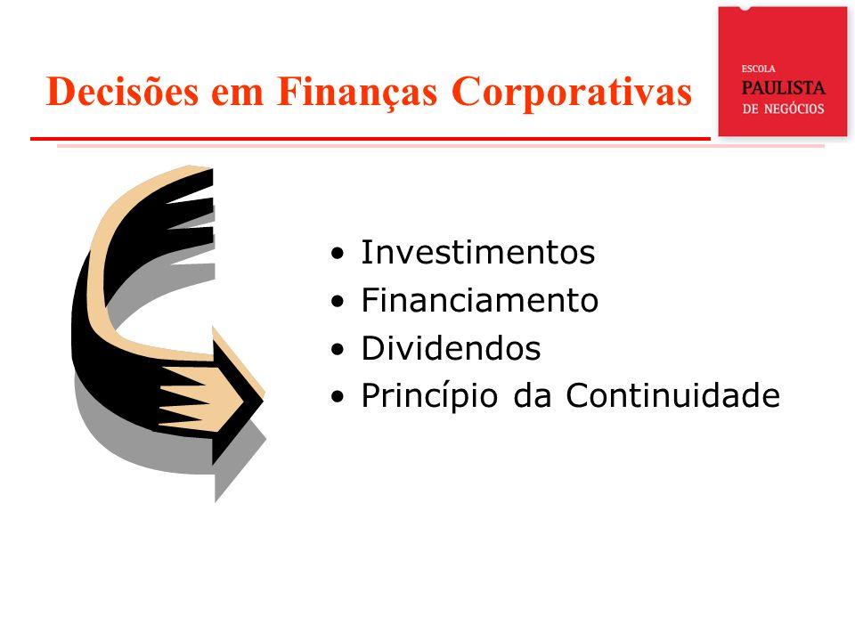 Decisões em Finanças Corporativas