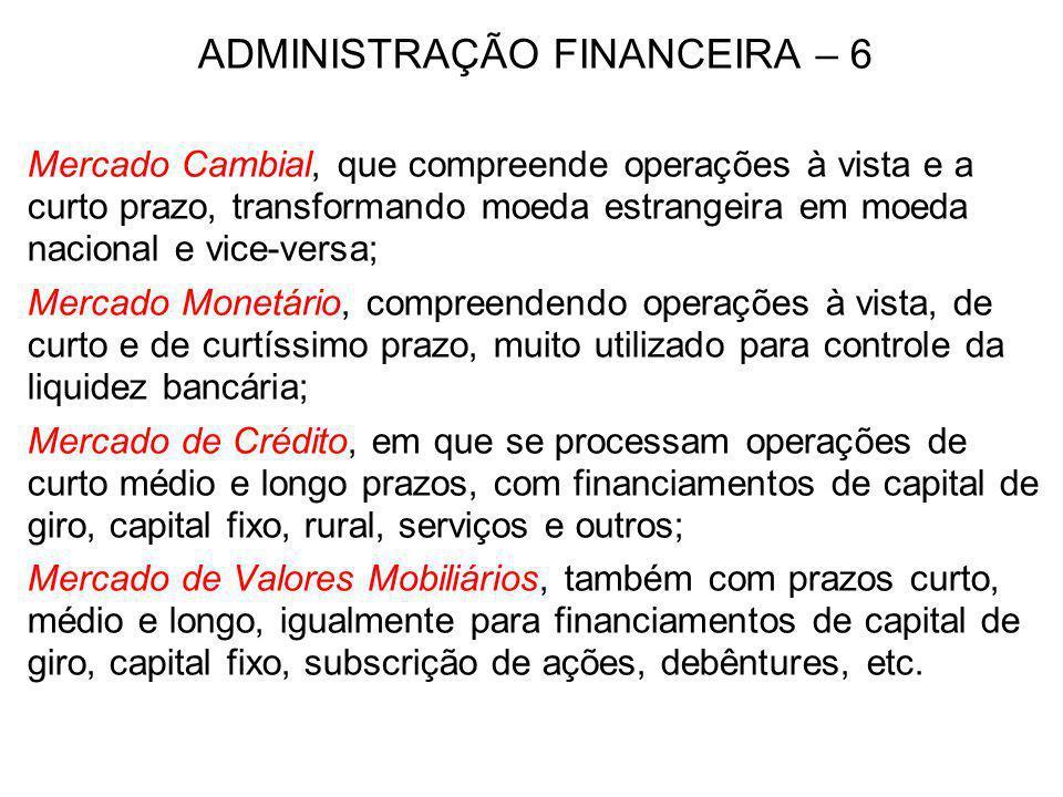 ADMINISTRAÇÃO FINANCEIRA – 6