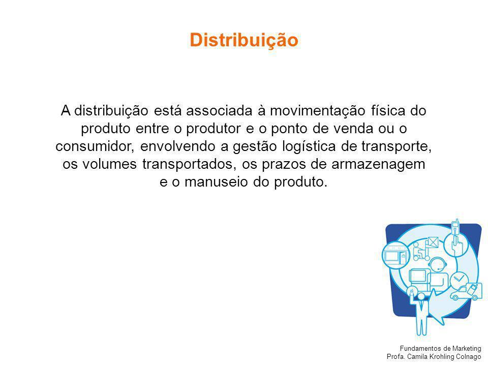 Distribuição A distribuição está associada à movimentação física do