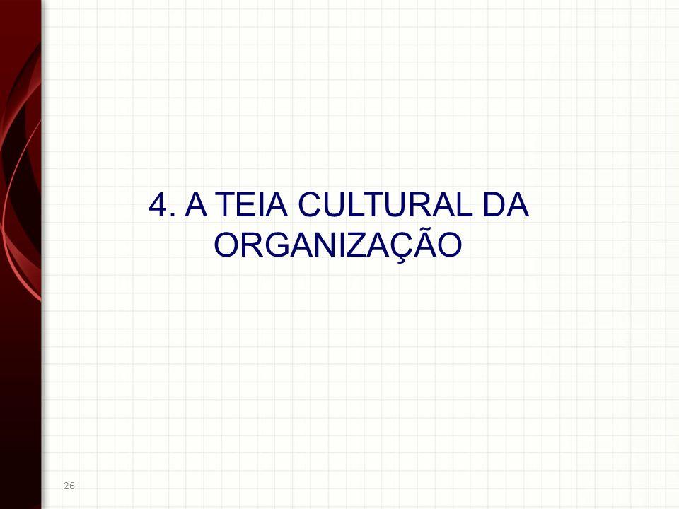4. A TEIA CULTURAL DA ORGANIZAÇÃO