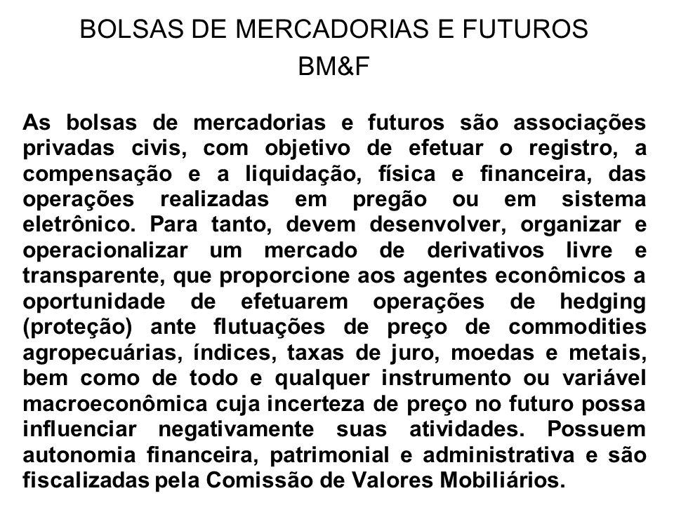 BOLSAS DE MERCADORIAS E FUTUROS