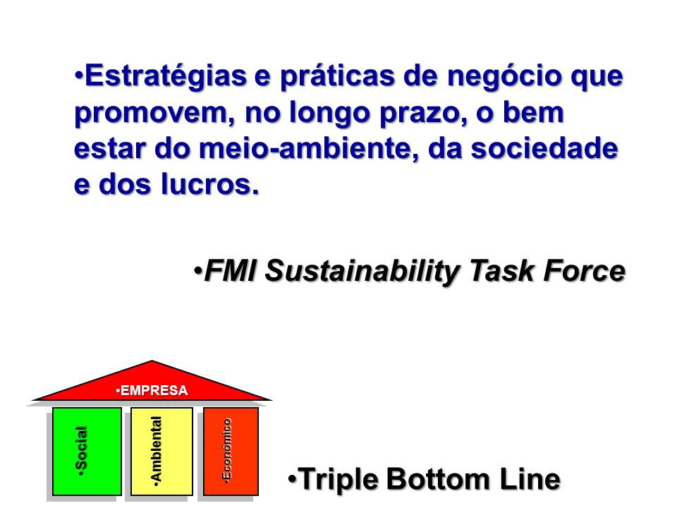 FMI Sustainability Task Force