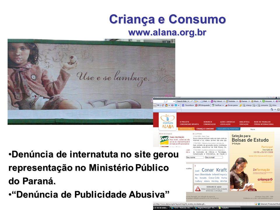 Criança e Consumo www.alana.org.br