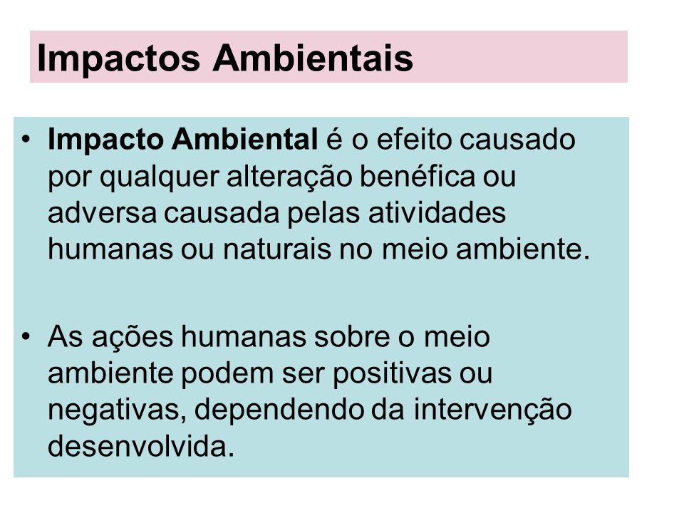 Impactos Ambientais