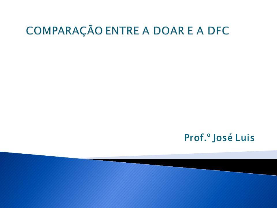 COMPARAÇÃO ENTRE A DOAR E A DFC