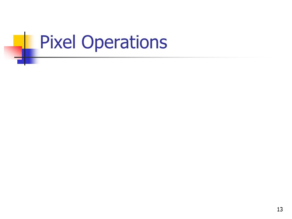 Pixel Operations