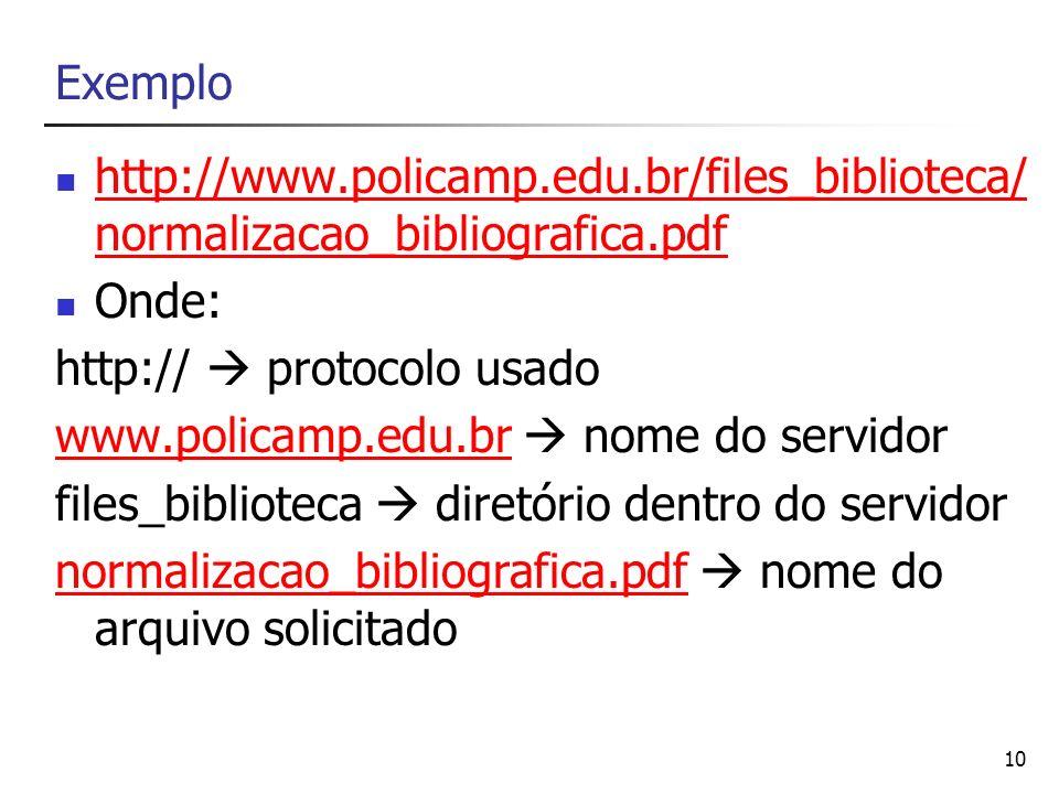 Exemplo http://www.policamp.edu.br/files_biblioteca/normalizacao_bibliografica.pdf. Onde: http://  protocolo usado.