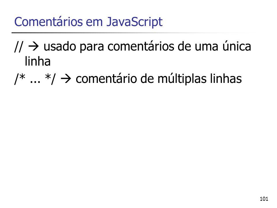 Comentários em JavaScript