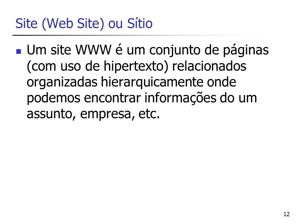 Site (Web Site) ou Sítio
