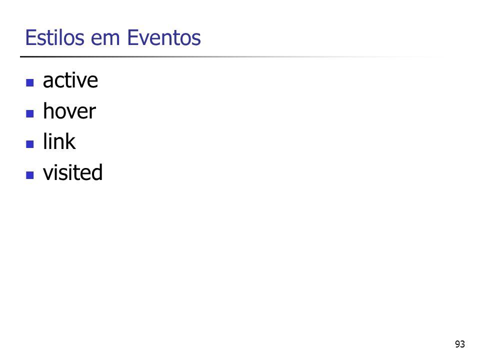 Estilos em Eventos active hover link visited