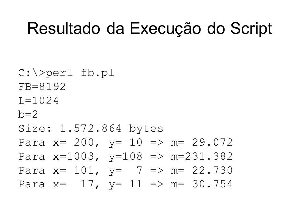 Resultado da Execução do Script