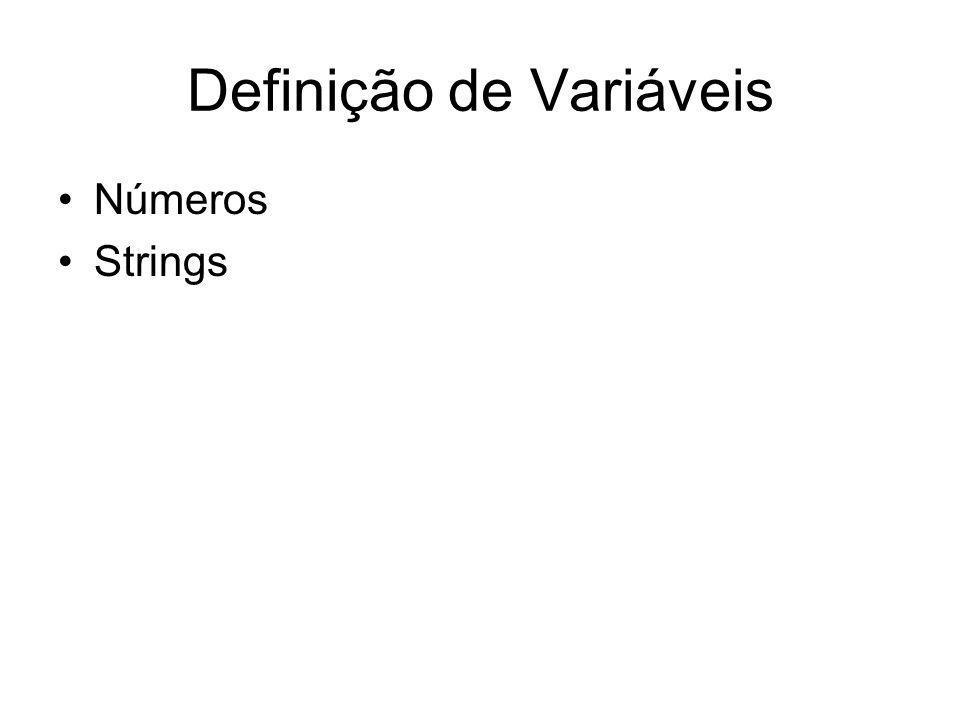 Definição de Variáveis