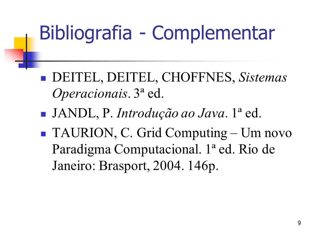 Bibliografia - Complementar