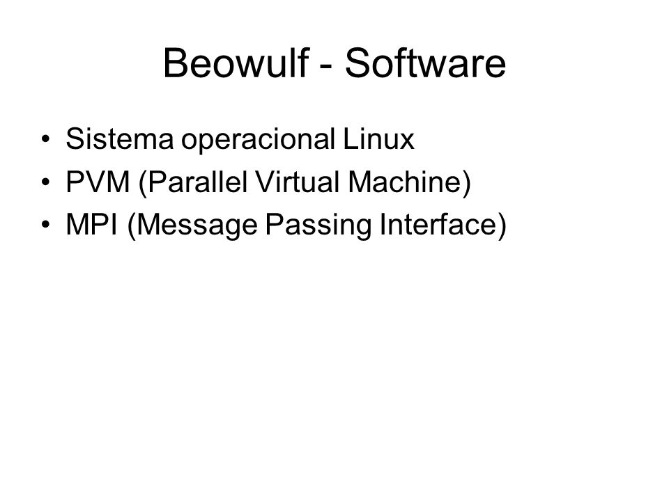 Beowulf - Software Sistema operacional Linux