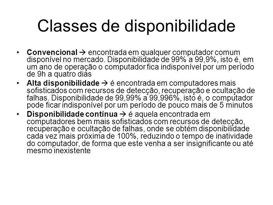 Classes de disponibilidade
