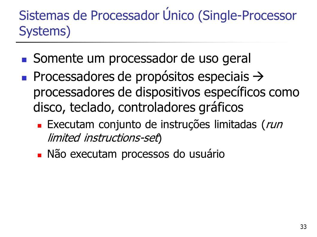 Sistemas de Processador Único (Single-Processor Systems)