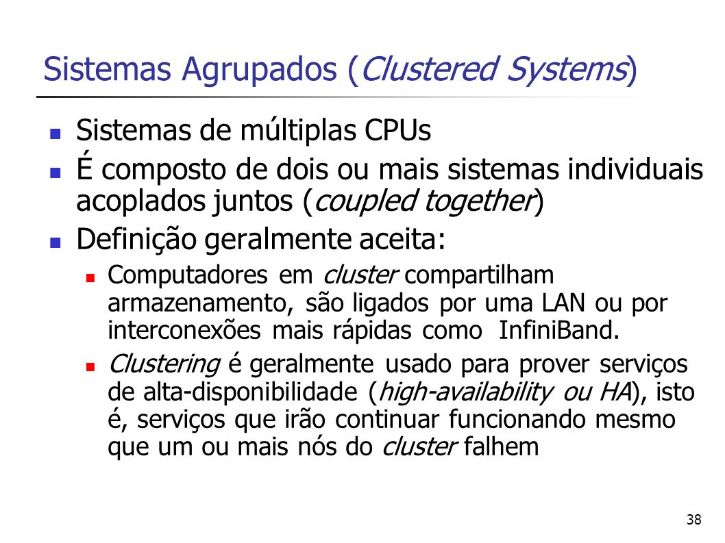 Sistemas Agrupados (Clustered Systems)