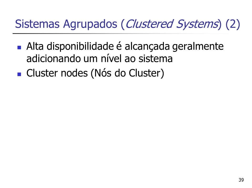 Sistemas Agrupados (Clustered Systems) (2)