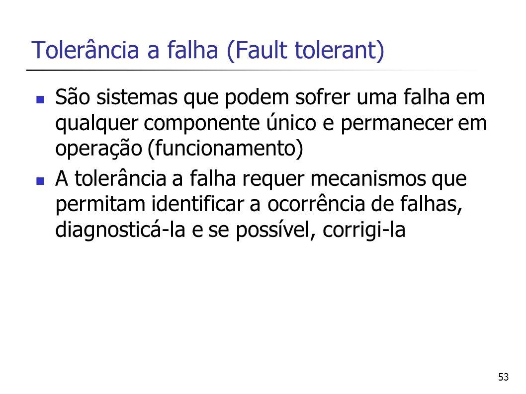 Tolerância a falha (Fault tolerant)