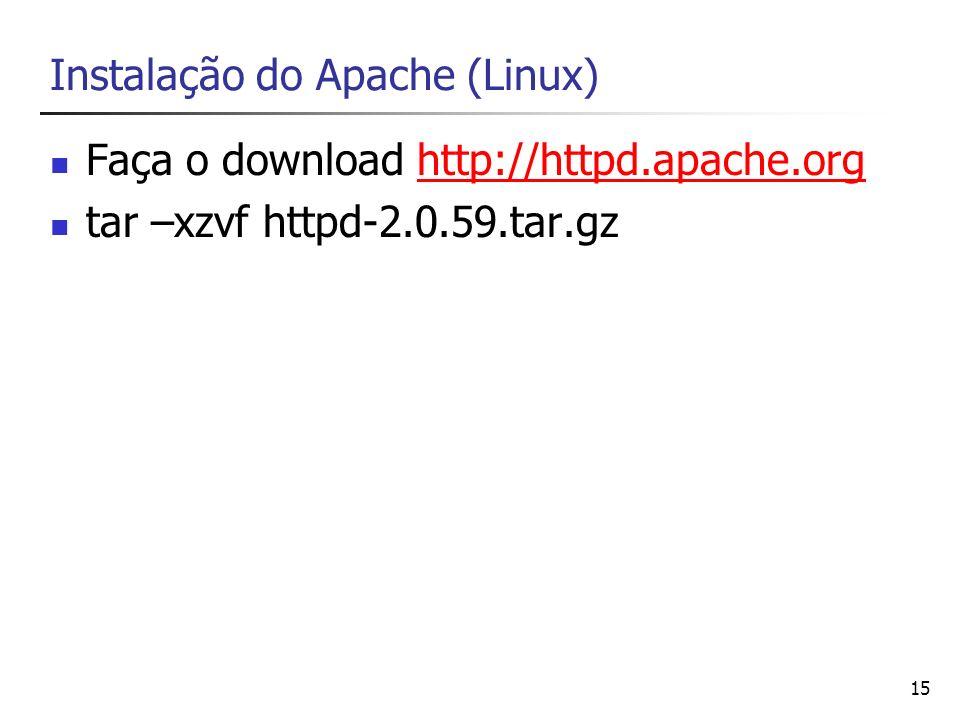 Instalação do Apache (Linux)