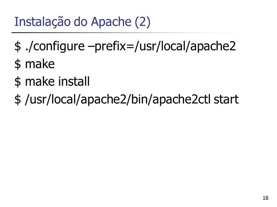 Instalação do Apache (2)