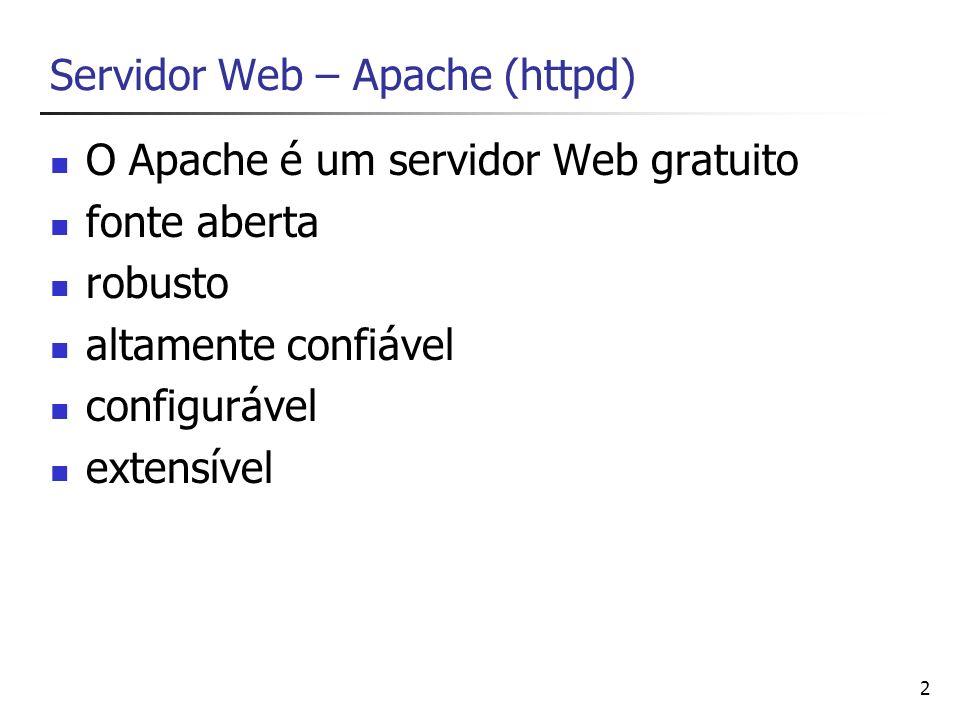 Servidor Web – Apache (httpd)