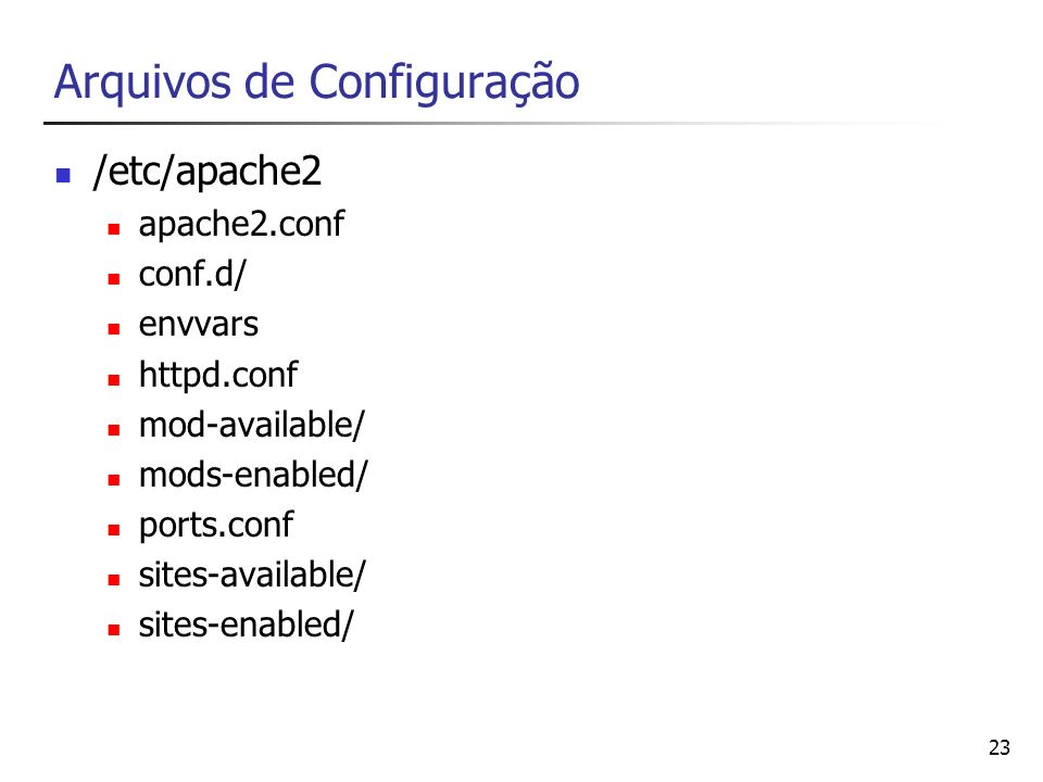 Arquivos de Configuração