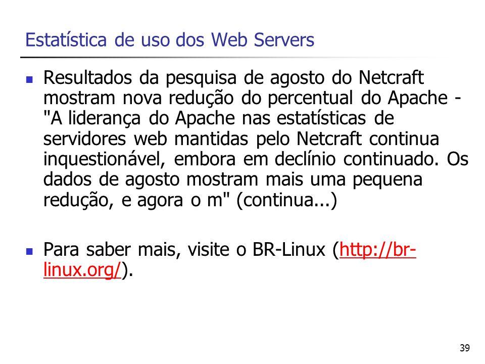 Estatística de uso dos Web Servers