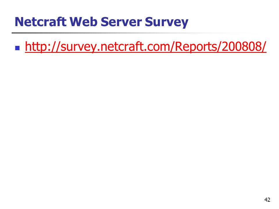 Netcraft Web Server Survey