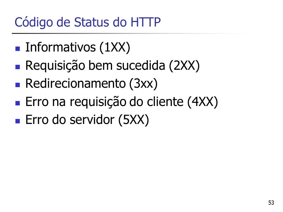 Código de Status do HTTP