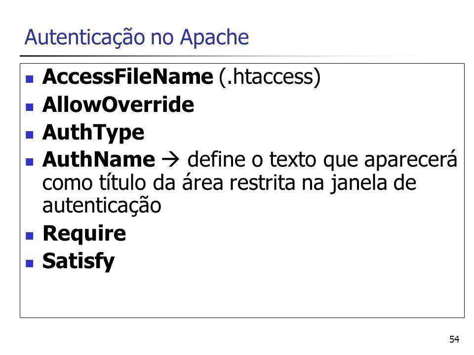 Autenticação no Apache