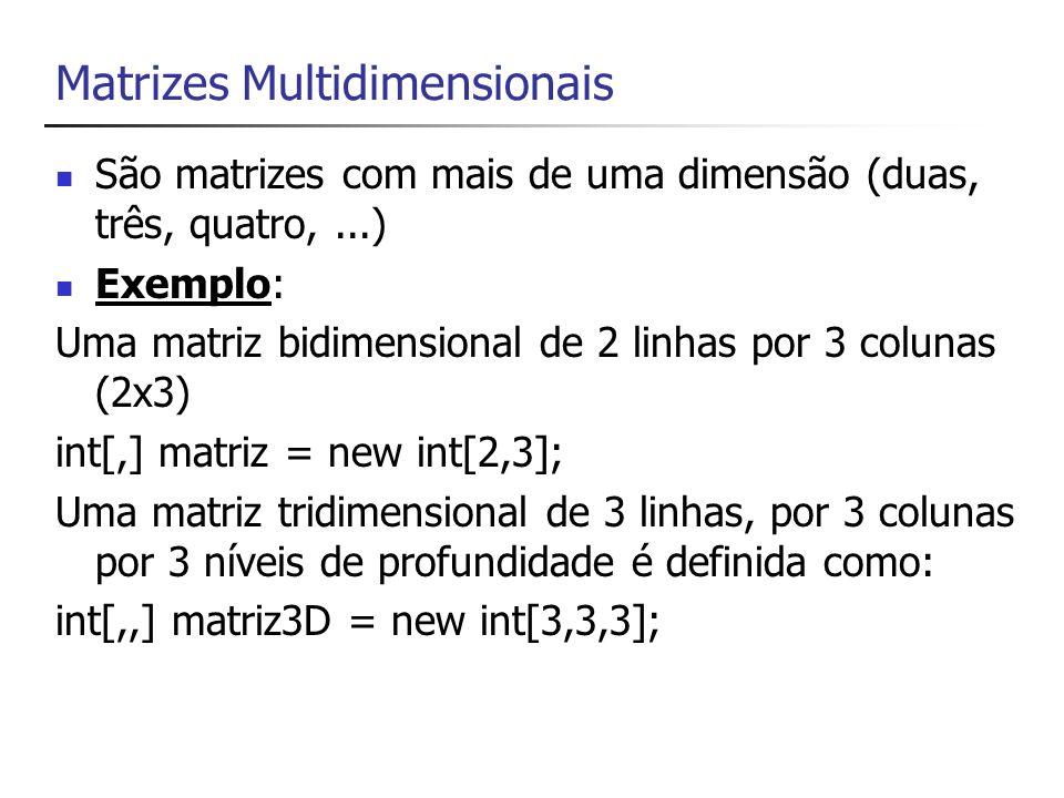 Matrizes Multidimensionais