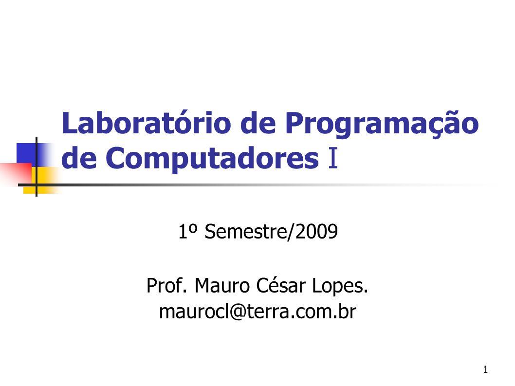 Laboratório de Programação de Computadores I