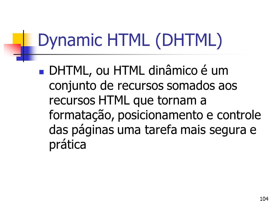 Dynamic HTML (DHTML)