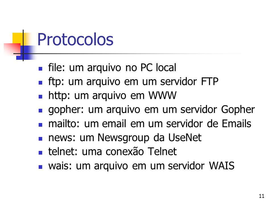 Protocolos file: um arquivo no PC local
