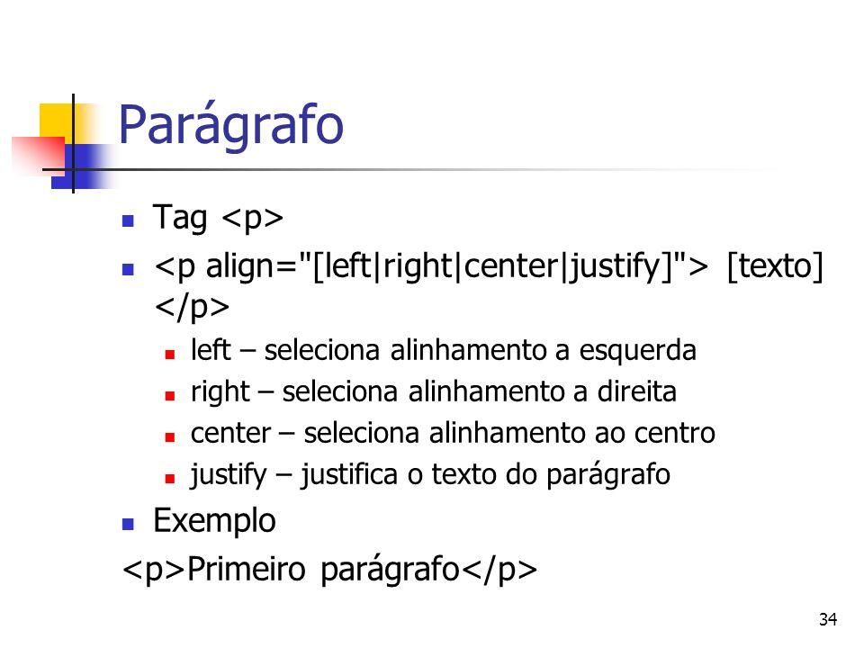 Parágrafo Tag <p>