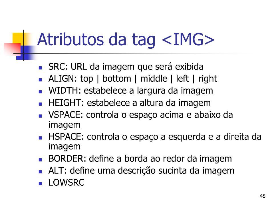 Atributos da tag <IMG>