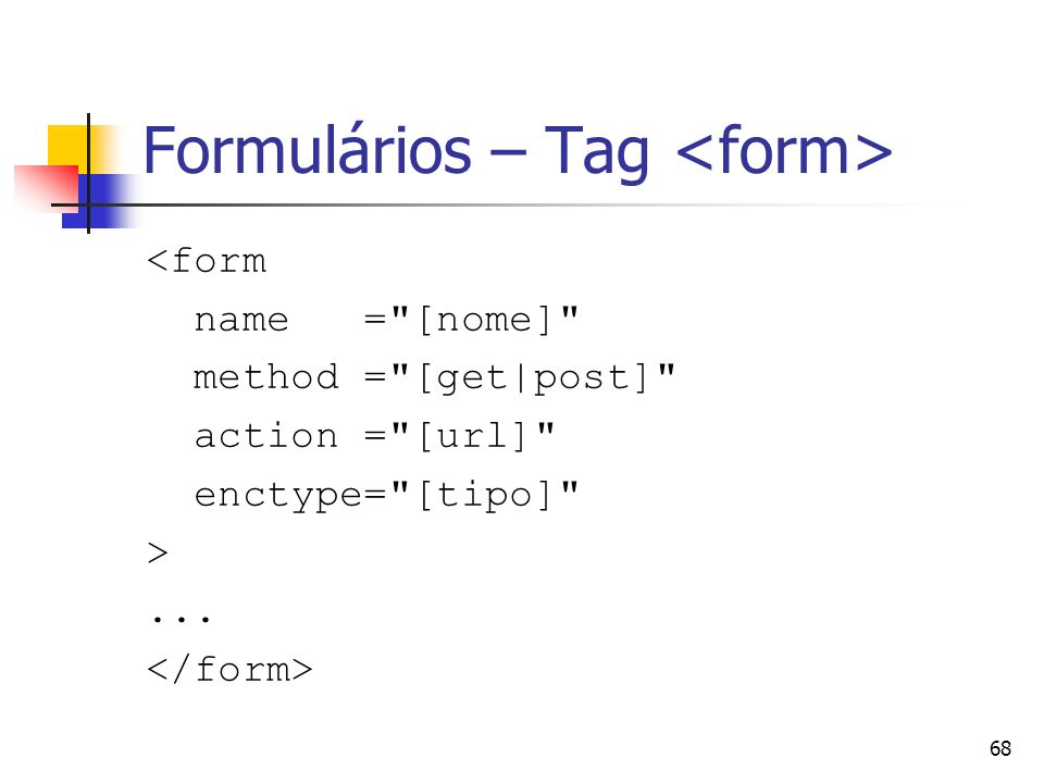 Formulários – Tag <form>