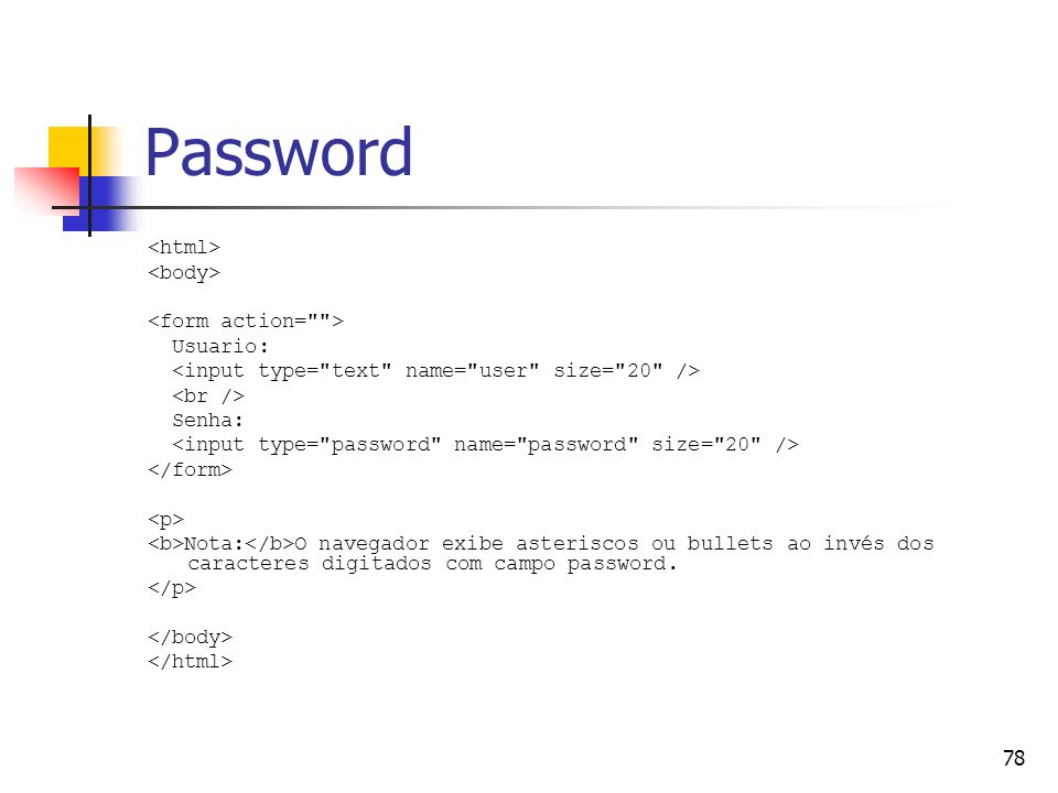 Password <html> <body> <form action= > Usuario: