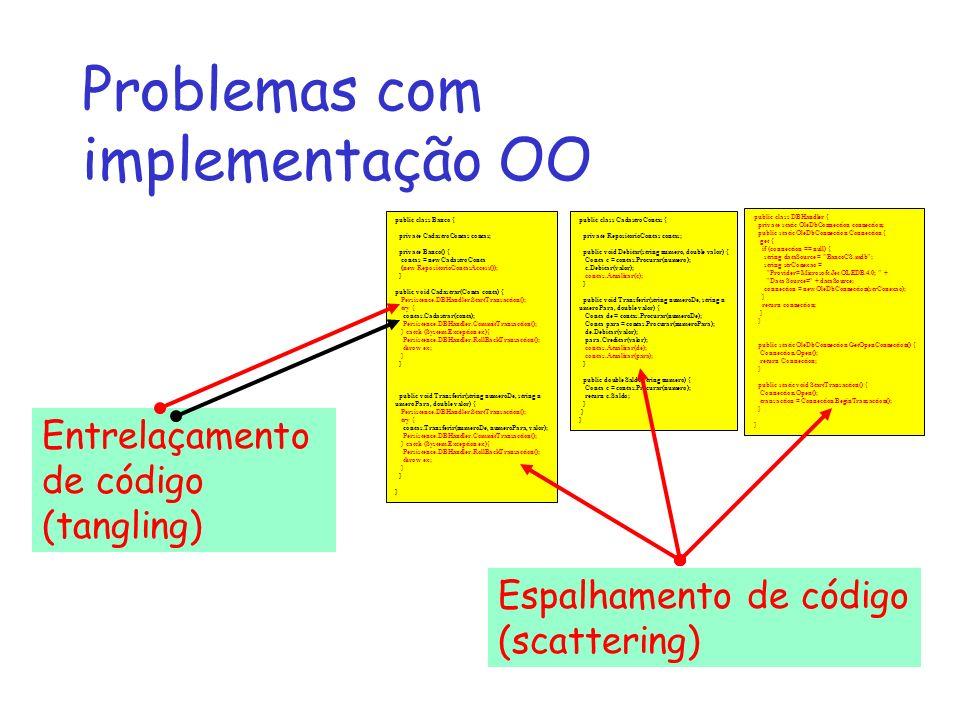 Problemas com implementação OO