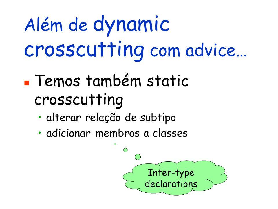 Além de dynamic crosscutting com advice…