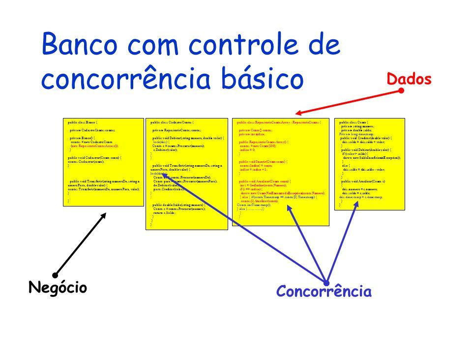 Banco com controle de concorrência básico