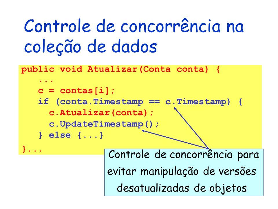 Controle de concorrência na coleção de dados