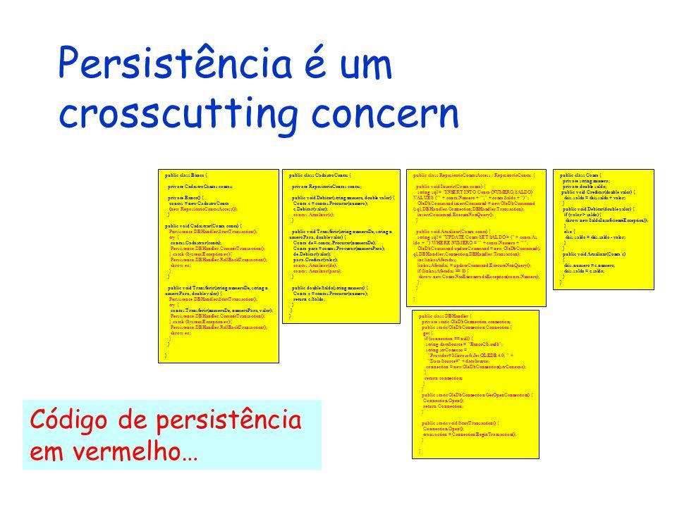 Persistência é um crosscutting concern