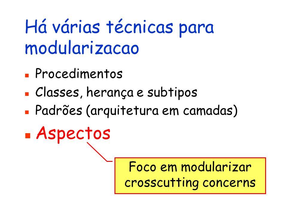 Há várias técnicas para modularizacao