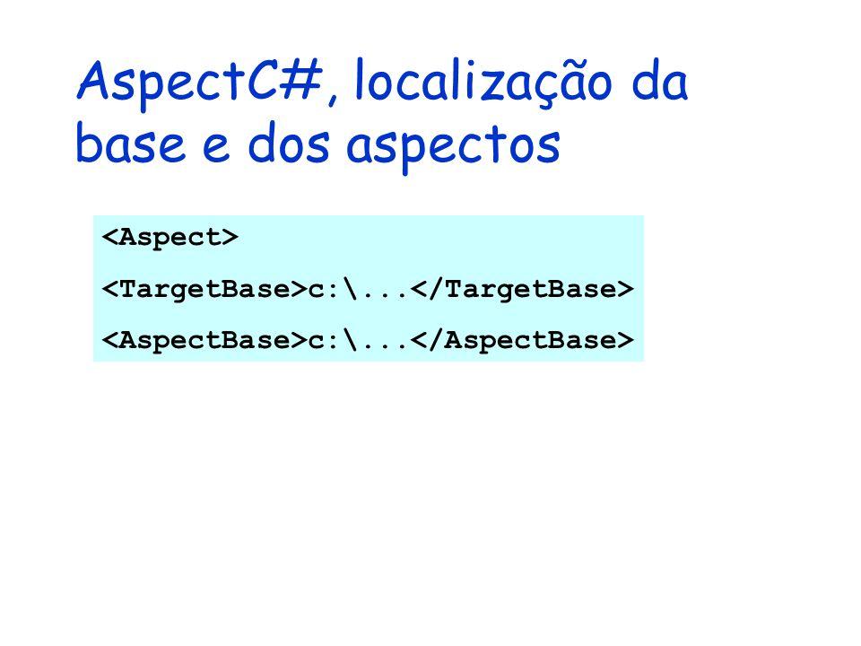 AspectC#, localização da base e dos aspectos